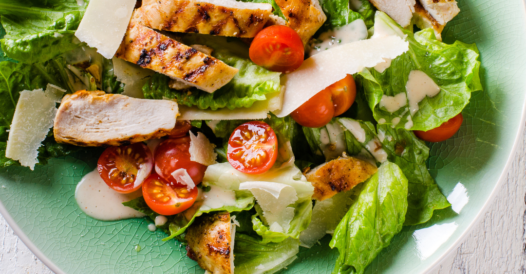 Grilled Chicken Cobb Caesar Salad